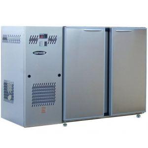 Модуль барный холодильный, 1540х540х850мм, без борта, 2 двери глухие, ножки, +2/+8С, нерж.сталь, дин.охл., агрегат слева, R290