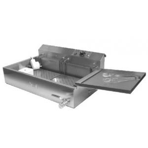 Фритюрница электрическая для чебуреков, 1 ванна 12л, настольная, нерж.сталь, 2 вкладыша перфорированых, 2 крышки-полки