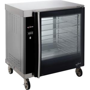 Шкаф тепловой для кур, 1 камера, загрузка 24 куры, 4 полки-решетки, черный+нерж.сталь, сквозной, электромех.управление, Halo Heat