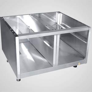 Подставка под оборудование,  800х691х540мм, без столешницы, полузакрытая без двери, нерж.сталь 304, для 700 линии, направляющие для 2GN1/1