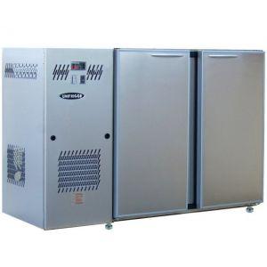 Модуль барный холодильный, 1240х540х850мм, без борта, 2 двери глухие, ножки, +2/+8С, нерж.сталь, дин.охл., агрегат слева, R290
