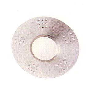 Блюдце для чая D 10,5см матовое (набор 12шт) край ТОЧКИ, нерж.сталь