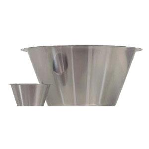 Емкость коническая D 21см h 11см 2,5л, нерж.сталь