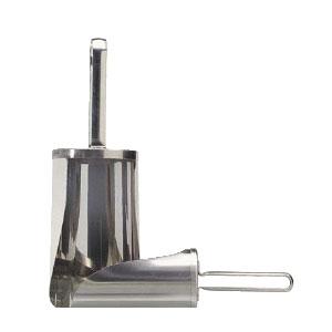 Совок 1л L 19см D 10,5см для сыпучих продуктов, нерж.сталь