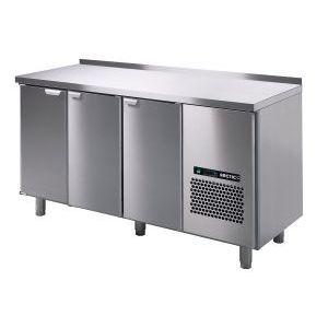 Стол холодильный, GN1/1, L1.66м, борт H40мм,  3 двери глухие, ножки, +2/+15С, нерж.сталь, дин.охл., агрегат справа
