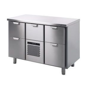 Модуль барный холодильный, 1260х550х900мм, без борта, 5 выд.секц., ножки, +5/+15С, нерж.сталь, агрегат центр.