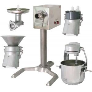 Машина универсальная кухонная напольная: насадки (мясорубка ММ+овощерезка-протирка МО+миксер планетарный ВМ), привод ПМ, подставка П-01, нерж.сталь