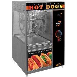 Аппарат для хот-догов карусельный, настольный, камера для сосисок (22шт.), камера для булочек, электромех.управление, корпус нерж.сталь