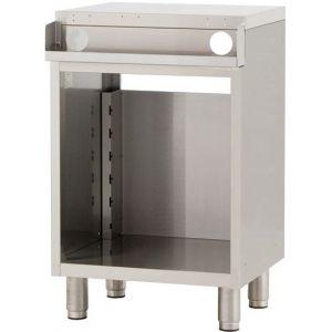 Модуль барный нейтральный для пивных кранов,  400х550х900мм, без борта, полузакрытый без двери, ножки, нерж.сталь