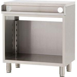 Модуль барный нейтральный для пивных кранов,  800х550х900мм, без борта, полузакрытый без двери, ножки, нерж.сталь