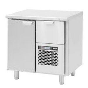 Модуль барный холодильный,  860х550х900мм, без борта, 1 дверь глухая+1 выд.секц., ножки, +5/+15С, нерж.сталь, агрегат справа