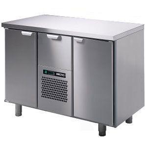 Модуль барный холодильный, 1260х550х900мм, без борта, 2 двери глухие+1 выд.секц., ножки, +5/+15С, нерж.сталь, агрегат центр.