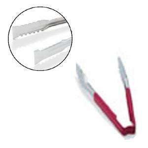 Щипцы универсальные L 40,6см с красной пластиковой ручкой, нерж.сталь