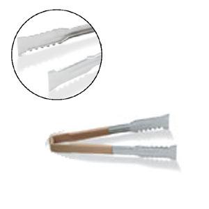 Щипцы универсальные L 24,1см, с бежевой пластиковой ручкой, нерж.сталь