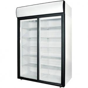 Шкаф холодильный, 1400л, 2 двери-купе стекло, 8 полок, ножки, +1/+10С, дин.охл., белый, канапе