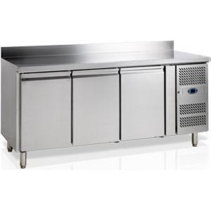 Стол холодильный, GN1/1, L1.79м, борт H100мм, 3 двери глухие, ножки, -2/+10С, нерж.сталь, дин.охл., агрегат справа