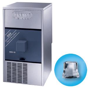 Льдогенератор-диспенсер для кускового льда, 42кг/сут, бункер 12.0кг, вод.охлаждение, корпус нерж.сталь, форма «кубик» D