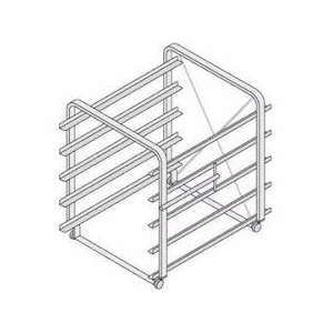 Рама навесная с планкой-направляющей для пароконвектомата SCC 61, нерж.сталь, 5 направляющих для EN
