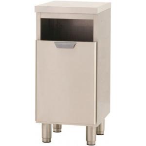 Модуль барный нейтральный для мусора,  400х550х900мм, без борта, 1 ящик выдв., ножки, нерж.сталь