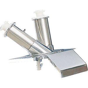 Воронка загрузочная для овощерезки CL60, 2 трубки (прямая и наклонная), нерж.сталь