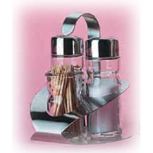 Набор для специй (3 предмета) на подставке (соль, перец, подставка д