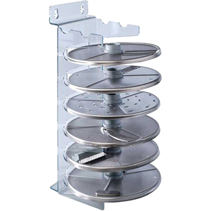 Держатель настенный для дисков-ножей для овощерезки-куттера R211 XL, R301, R402 и овощерезки CL20, CL25, CL30, пластик