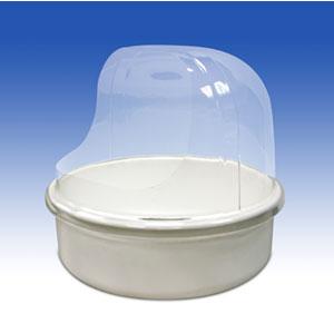 Купол защитный, для АСВ с горизонтальной подачей ваты, прозрачный пластик