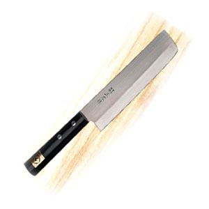 Нож для японской кухни (овощной) L 16,5см, рукоятка черная сосна