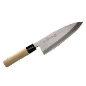 Нож для японской кухни (рыбный) L 18см, рукоятка белое дерево