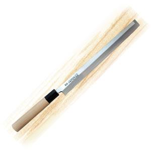 Нож для японской кухни (сашими, осьминоL 24см, рукоятка белое дерево