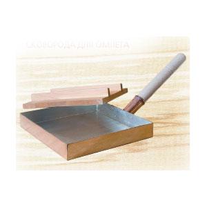 Сковорода для омлета (для суши-бара) L 21см с деревянной ручкой