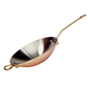 Сковорода WOK D 32см h 6см c бронзовой ручкой, медь