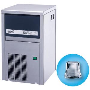 Льдогенератор для кускового льда,  21кг/сут, бункер 4.0кг, вод.охлаждение, корпус нерж.сталь, форма «кубик» D