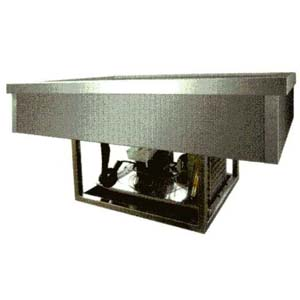Ванна холодильная встраиваемая, L0.77м, +2/+8С, нерж.сталь, стат.охл., 2GN1/1, без каркаса