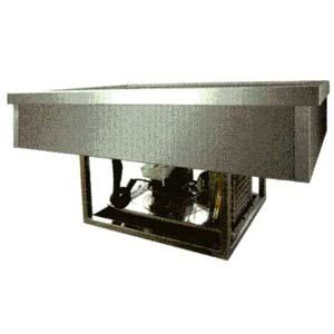 Ванна холодильная встраиваемая, L1.44м, +2/+8С, нерж.сталь, стат.охл., 4GN1/1, без каркаса