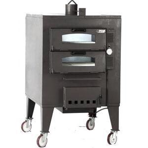 Печь дровяная, 2 камеры, под 0,48м2 камень сплошной, термометр, корпус черный, дверь стекло, передвижная, ящик для золы, косв.нагрев