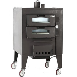 Печь дровяная, 2 камеры, под 0,80м2 камень сплошной, термометр, корпус черный, дверь стекло, передвижная, ящик для золы, косв.нагрев