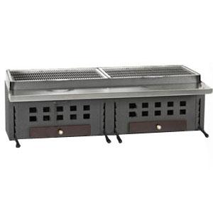 Гриль на углях, 2 решетки 720х420мм, без подставки, отделка коричневая, зольник