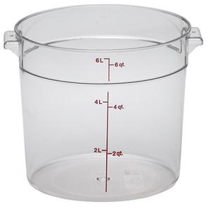 Контейнер 5,7л D 25,2см h 20,2см с градуир., поликарбонат