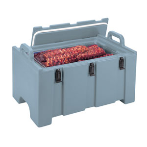Термоконтейнер для вторых блюд 38л L 68см w 45см h 38см, синевато-серый
