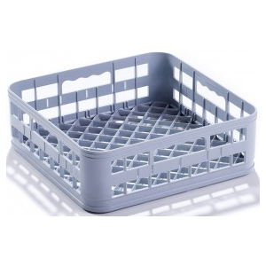 Корзина посудомоечная для стаканов, 400х400мм, пластик серый