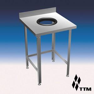 ССО1-060/6-21 - стол для сбора отходов, отверстие D210мм.