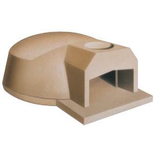 Печь дровяная, 1 камера, под 0.89м2 камень сегментированный, термометр, купол камень, дверь сталь, полупрофессиональная