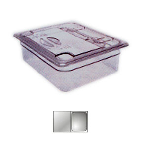 Крышка для гастроемкости GN1/2 с ручк. и вырезом, поликарбонат