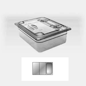 Крышка для гастроемкости GN1/3 FLIPLID с вырезом, поликарбонат
