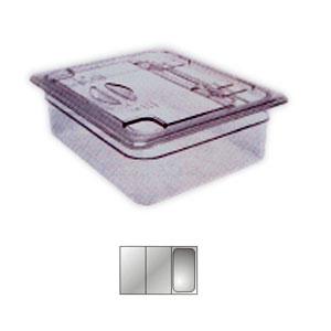 Крышка для гастроемкости GN1/3 с ручк. и вырезом, поликарбонат