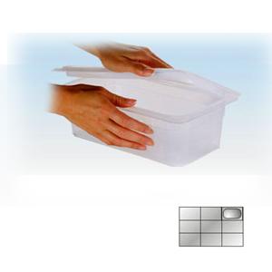 Крышка для гастроемкости GN1/9 герметичная, полипропилен