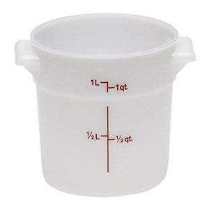 Контейнер 0,9л D 15,4см h 12,7см с градуир., полиэтилен