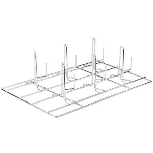 Решетка для куры-гриль для пароконвектомата, 325х530мм, нерж.сталь, 6 крюков