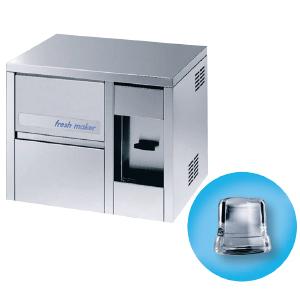 Льдогенератор-диспенсер для кускового льда, 21кг/сут, бункер 4.0кг, вод.охлаждение, корпус нерж.сталь, форма «кубик» D